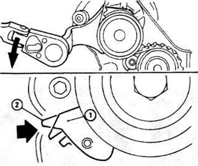 Схема ремня генератора на опель вектра в