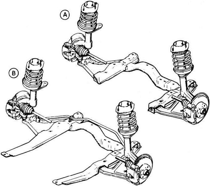 общий вид передней подвески